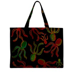 Octopuses Pattern 4 Zipper Mini Tote Bag