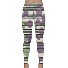 Purple And Green Elegant Pattern Classic Yoga Leggings