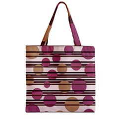 Simple Decorative Pattern Zipper Grocery Tote Bag by Valentinaart