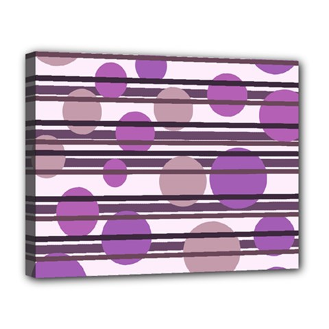 Purple Simple Pattern Canvas 14  X 11  by Valentinaart