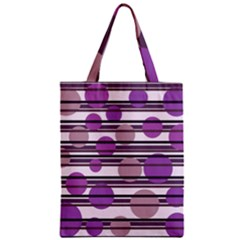 Purple Simple Pattern Classic Tote Bag by Valentinaart