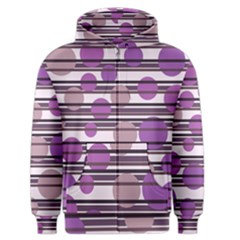 Purple Simple Pattern Men s Zipper Hoodie