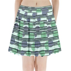 Green Simple Pattern Pleated Mini Skirt by Valentinaart