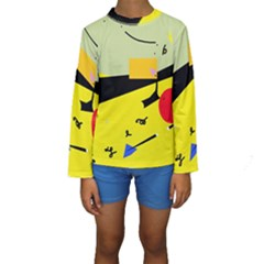 Party In The Desert  Kids  Long Sleeve Swimwear