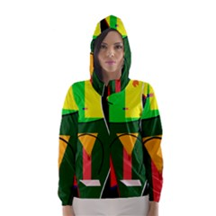 Abstract Lady Hooded Wind Breaker (women)