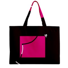 Pink Square  Zipper Mini Tote Bag by Valentinaart