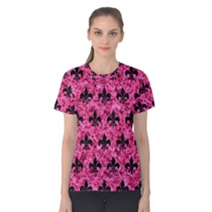 Royal1 Black Marble & Pink Marble Women s Cotton Tee by trendistuff