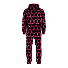 Scales3 Black Marble & Pink Marble Hooded Jumpsuit (kids) by trendistuff