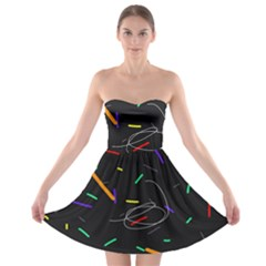 Colorful Beauty Strapless Bra Top Dress by Moma