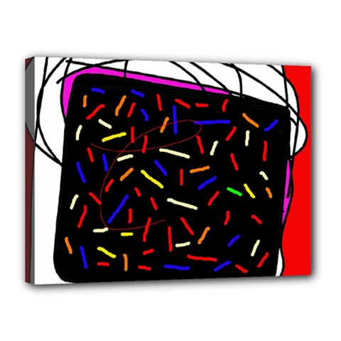 Color Tv Canvas 16  X 12  by Moma