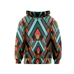 Abstract Mosaic Color Box Kids  Pullover Hoodie by AnjaniArt
