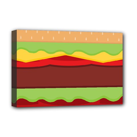 Cake Cute Burger Copy Deluxe Canvas 18  X 12