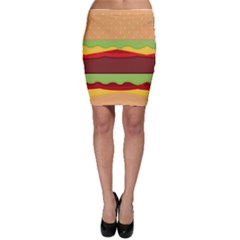 Cake Cute Burger Copy Bodycon Skirt by AnjaniArt