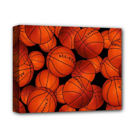 Basketball Sport Ball Champion All Star Deluxe Canvas 14  X 11  by AnjaniArt