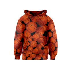 Basketball Sport Ball Champion All Star Kids  Pullover Hoodie by AnjaniArt