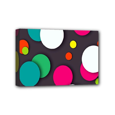 Color Balls Mini Canvas 6  X 4  by AnjaniArt