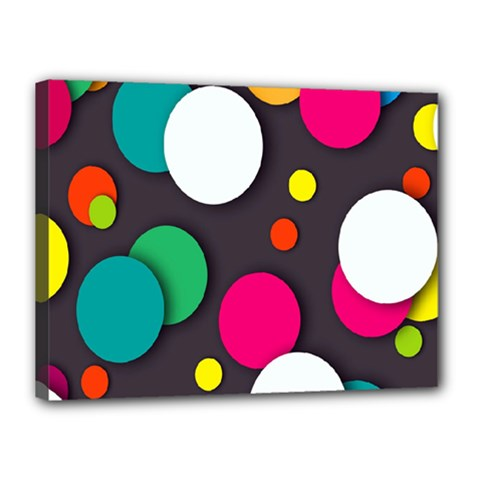 Color Balls Canvas 16  X 12  by AnjaniArt