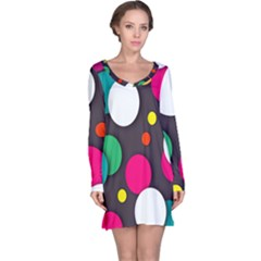 Color Balls Long Sleeve Nightdress