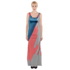 Colorful Maxi Thigh Split Dress by AnjaniArt