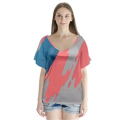 Colorful Flutter Sleeve Top by AnjaniArt