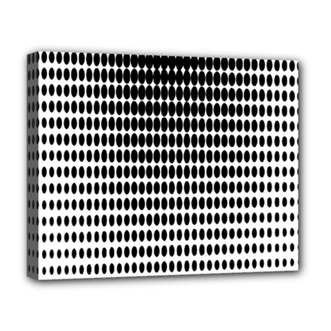 Dark Circles Halftone Black White Copy Deluxe Canvas 20  X 16   by AnjaniArt