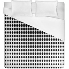 Dark Circles Halftone Black White Copy Duvet Cover (king Size)