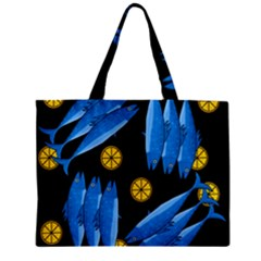 Mackerel Meal Zipper Mini Tote Bag by Valentinaart