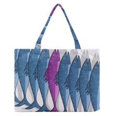 Mackerel Miltary Medium Zipper Tote Bag by Valentinaart