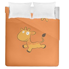 Giraffe Copy Duvet Cover Double Side (queen Size)