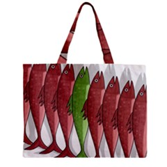 Mackerel Military 2 Zipper Mini Tote Bag