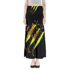 Yellow Fish Maxi Skirts by Valentinaart