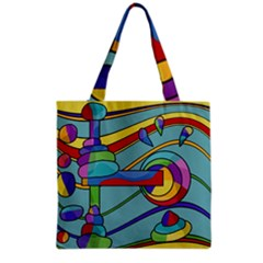 Abstract Machine Grocery Tote Bag by Valentinaart