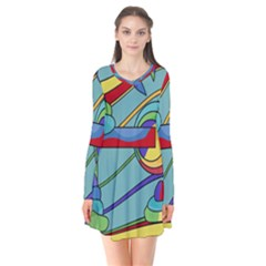 Abstract Machine Flare Dress
