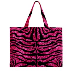 Skin2 Black Marble & Pink Marble (r) Zipper Mini Tote Bag by trendistuff