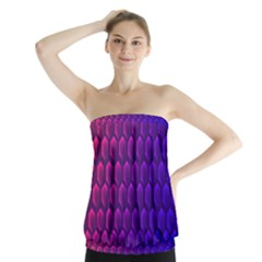 Outstanding Hexagon Blue Purple Strapless Top