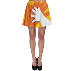 Hand Mom Soon Cute Mains Copy Skater Skirt