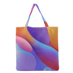 Color Orange Copy Grocery Tote Bag by AnjaniArt