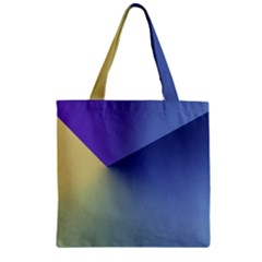 Purple Yellow Zipper Grocery Tote Bag by AnjaniArt