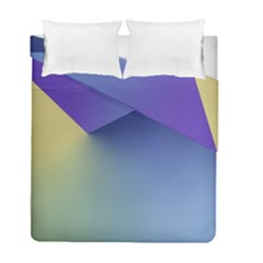 Purple Yellow Duvet Cover Double Side (full/ Double Size)