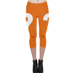 Question Mark Capri Leggings