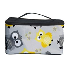 Owl Bird Yellow Animals Cosmetic Storage Case by AnjaniArt