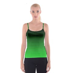 Neon Green And Black Halftone Copy Spaghetti Strap Top
