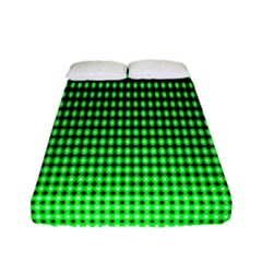 Neon Green And Black Halftone Copy Fitted Sheet (full/ Double Size)