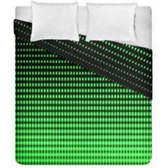 Neon Green And Black Halftone Copy Duvet Cover Double Side (california King Size)