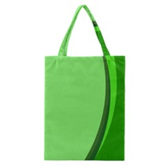 Simple Green Classic Tote Bag by AnjaniArt