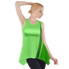 Simple Green Side Drop Tank Tunic