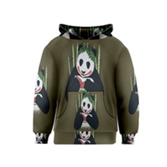 Simple Joker Panda Bears Kids  Pullover Hoodie