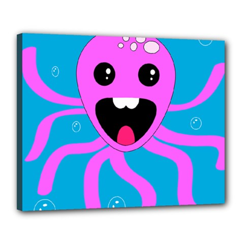 Bubble Octopus Canvas 20  X 16  by AnjaniArt