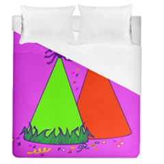 Birthday Hat Party Duvet Cover (queen Size)