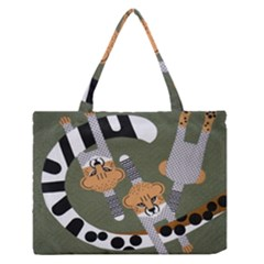 Chetah Animals Medium Zipper Tote Bag by AnjaniArt